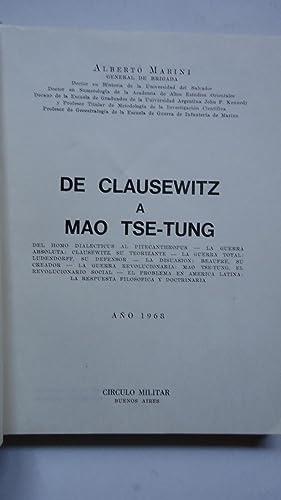 DE CLAUSEWITZ A MAO TSE-TUNG: MARINI, Alberto