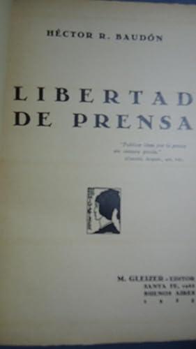 LIBERTAD DE PRENSA: BAUDÓN, Héctor R.