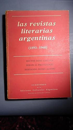 LAS REVISTAS LITERARIAS ARGENTINAS. 1893-1967: LAFLEUR, Hector René