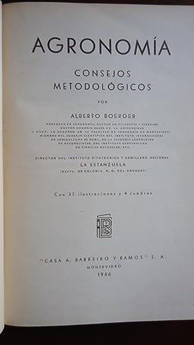 AGRONOMÍA. CONSEJOS METODOLÓGICOS: BOERGER, Alberto