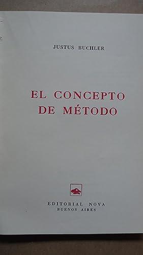 EL CONCEPTO DEL MÉTODO: BUCHLER, Justus