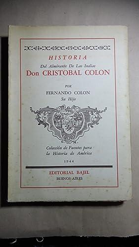 HISTORIA DEL ALMIRANTE DE LAS INDIAS DON CRISTOBAL COLÓN: COLÓN, Fernando