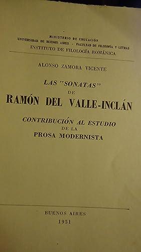 LAS SONATAS DE RAMON DEL VALLE INCLAN. CONTRIBUCION AL ESTUDIO DE LA PROSA MODERNISTA: ALONSO ...
