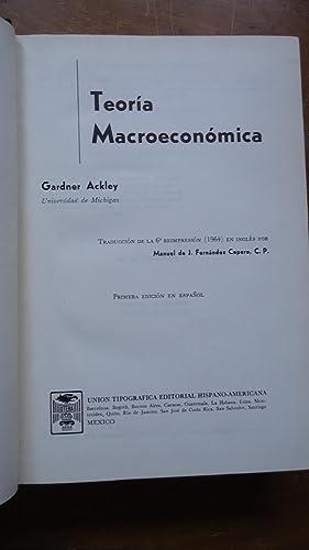 TEORÍA MACROECONÓMICA: ACKLEY, Gardner