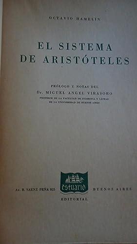 EL SISTEMA DE ARISTÓTELES: HAMELIN, Octavio