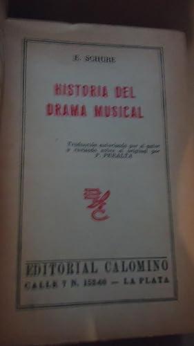 HISTORIA DEL DRAMA MUSICAL: SCHURE, E.