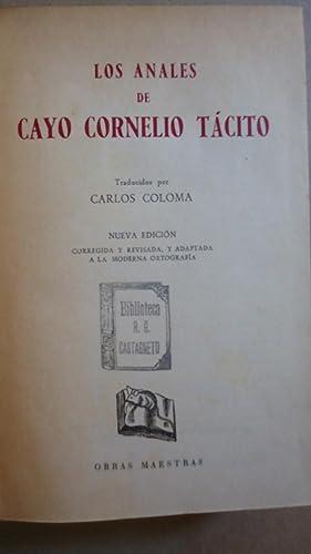LOS ANALES DE CAYO CORNELIO TÁCITO: TÁCITO