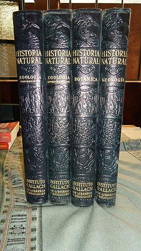 HISTORIA NATURAL. VIDA DE LOS ANIMALES, DE LAS PLANTAS Y DE LA TIERRA (4 TOMOS - OBRA COMPLETA): ...