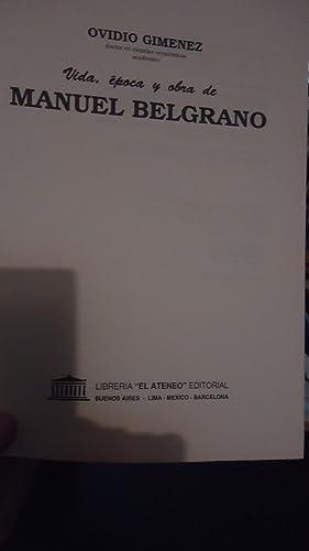 VIDA, ÉPOCA Y OBRA DE MANUEL BELGRANO: GIMENEZ, Ovidio