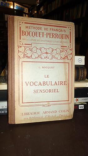 LE VOCABULAIRE SENSORIEL: BOCQUET, L.