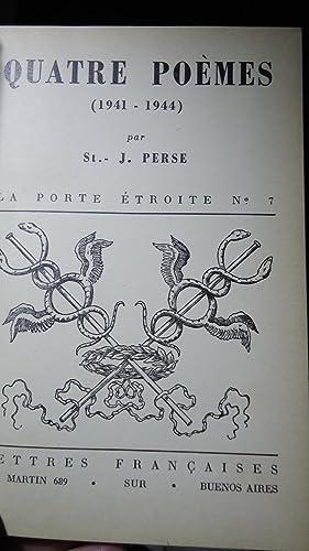 QUATRE POÉMES (1941-1944) LA PORTE ETROITE N° 7: PERSE. S.J.