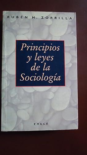 PRINCIPIOS Y LEYES DE LA SOCIOLOGIA: ZORRILLA, Rubén H.