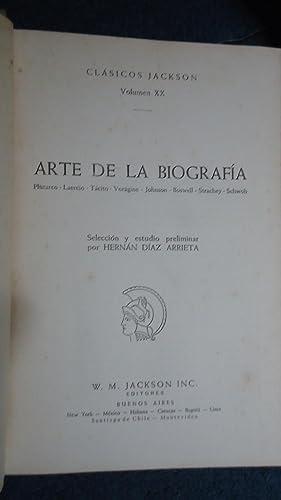 ARTE DE LA BIOGRAFÍA: PLUTARCO + LAERCIO