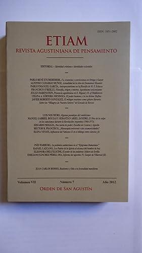 ETIAM. REVISTA AGUSTINIANA DE PENSAMIENTO VOL. VII,: ORDEN DE SAN