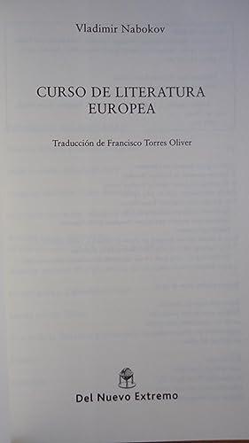 CURSO DE LITERATURA EUROPEA: NABOKOV, Vladimir