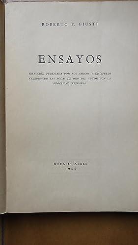 ENSAYOS. SELECCIÓN PUBLICADA POR LOS AMIGOS Y DISCÍPULOS CELEBRANDO LAS BODA DE ORO ...