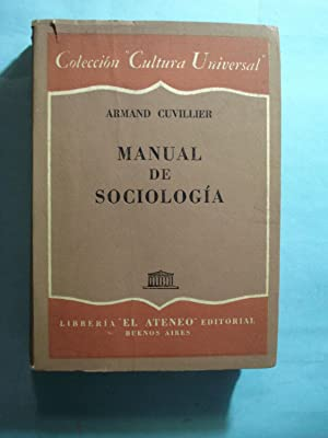 MANUAL DE SOCIOLOGIA: CUVILLIER, Armand