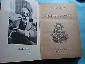 ANATOLE FRANCE: REISSIG, Luis