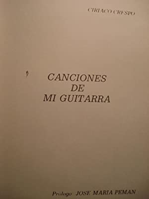 CANCIONES DE MI GUITARRA: CRESPO, Ciriaco