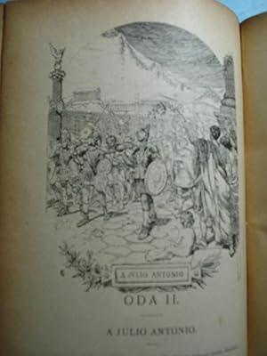 ODAS - ODAS TRADUCIDAS E IMITADAS POR INGENIOS ESPAÑOLES Y COLECCIONADAS POR D. M. MENENDEZ ...