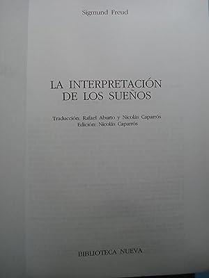 LA INTERPRETACIÓN DE LOS SUEÑOS: FREUD, Sigmund