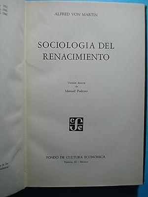 SOCIOLOGÍA DEL RENACIMIENTO: VON MARTÍN, Alfred