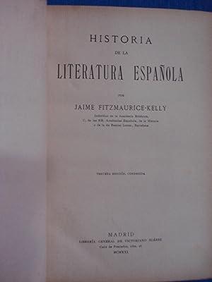HISTORIA DE LA LITERATURA ESPAÑOLA: FITZMAURICE-KELLY, Jaime