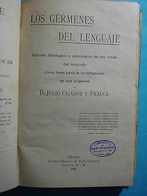 LOS GÉRMENES DEL LENGUAJE. ESTUDIO FISIOLÓGICO Y PSICOLÓGICO DE LAS VOCES DEL ...