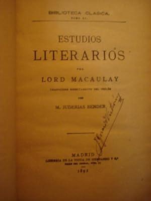 ESTUDIOS LITERARIOS: LORD MACAULAY