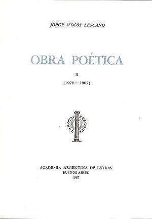OBRA POÉTICA (2 TOMOS-OBRA COMPLETA): VOCOS LESCANO, Jorge