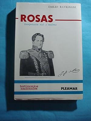 ROSAS. INTERPRETACIÓN REAL Y MODERNA: RAVIGNANI, Emilio