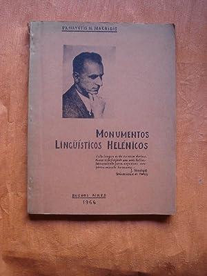 MONUMENTOS LINGÜÍSTICOS HELÉNICOS: MACRIDIS PANAYOTIS, N.