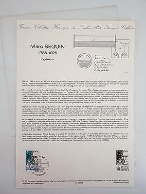COLLECTION HISTORIQUE DE TIMBRE 05-86. MARC SEGUIN