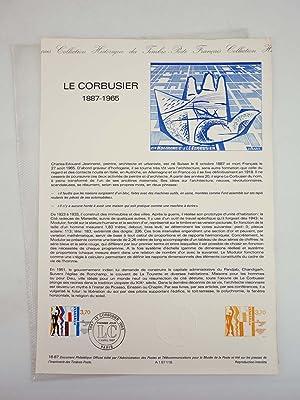COLLECTION HISTORIQUE DE TIMBRE 16-87. LE CORBUSIER
