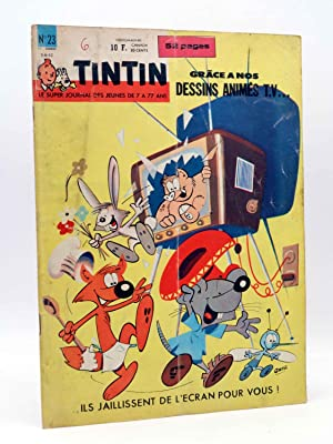 LE JOURNAL DE TINTIN ED BELGE Nº 1723 (17 ANNEE Nº 23). DESSINS ANIMES TV (VVAA) Leblanc, 1962
