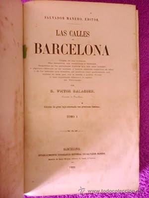 LAS CALLES DE BARCELONA: D. Victor Balaguer