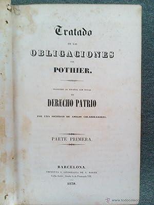 TRATADO DE OBLIGACIONES; TRATADO DEL CONTRATO COMPRA Y VENTA: Pothier