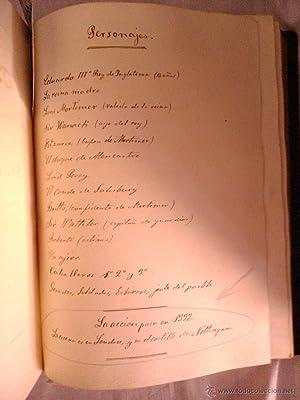 MANUSCRIPTS ,MANUSCRITO DE LA RECOPILACION DE VARIAS OBRAS DE TEATRO, AÑOS 1840-50: Nicasio ...