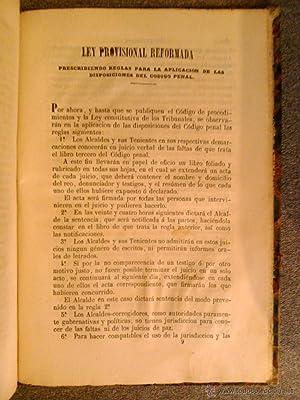 CODIGO PENAL DE ESPAÑA 1850 EDICION OFICIAL REFORMADA