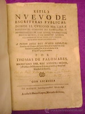 ESTILO NUEVO DE ESCRITURAS PUBLICAS: Thomas de palomares