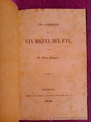 UNA EXPEDICION A SANT MIQUEL DEL FAY: D. Victor Balaguer