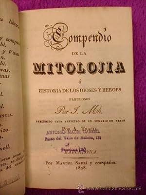 COMPENDIO DE MITOLOGIA: J.MH. A. Tracia