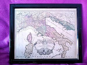 MAPA DE ITALIA 1719, JOHANN DAVID KÖHLER,: Johann David Köhler,