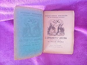 TESORO DE MILAGROS Y ORACIONES DE LA SS.CRUZ DE CARAVACA 1898+S.CIPRIANO STA JUSTINA 1909+CRUZ 1797