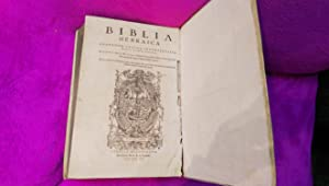 NOVUM TESTAMENTUM GRAECUM, BIBLIA HEBRAICA, POLIGLOTA: Benito Arias Montano, Sante Pagnini