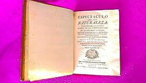 ESPECTACULO DE LA NATURALEZA, ABAD M. PLUCHE 1772, TEXTIL, ALIMENTACION, MECANICA.: ABAD M. PLUCHE