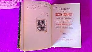 CONDADO DE BESALU, MONASTERIOS DE LA DIOCESIS GERUNDENSE, F. MONTSALVATGE Y FOSSAS 1906 (FIRMATS): ...