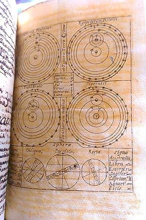 2 VOL, MANUSCRIPT ORIGINAL DE ASTRONOMIA, SPHAERA,