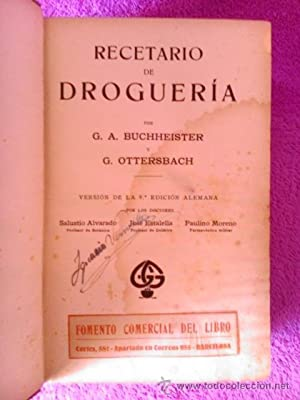 RECETARIO DE DROGUERIA, 1926: G.A. BUCHHEISTER Y G.OTTERSBACH