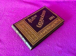 CALIGRAFIA, ALBUM CALIGRAFICO CON DIBUJOS Y ESCRITURAS ORIGINALES, ANITA GORGAS 1894: ANITA GORGAS